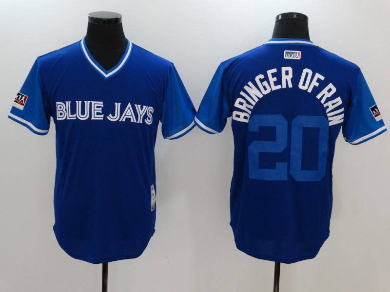 "Men's Toronto Blue Jays Josh Donaldson ""Bringer of Rain"" Majestic Royal/Light 2018 Players' Weekend Jersey"