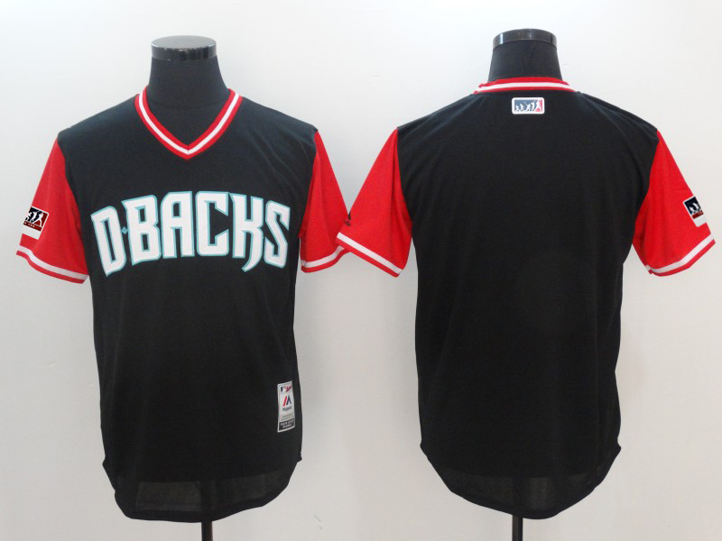 Men's Arizona Diamondbacks Majestic Black/Red 2018 Players' Weekend Authentic Team Stitched MLB Jersey