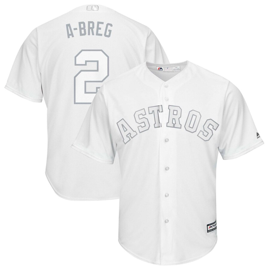 Men's Houston Astros #2 Alex Bregman Majestic White 2019 Players' Weekend Pick-A-Player Stitched MLB Jersey