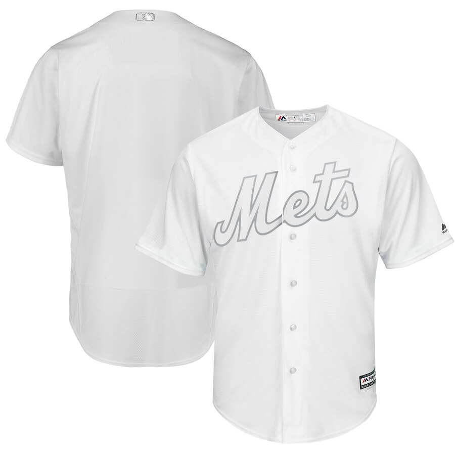 Men's New York Mets Majestic White 2019 Players' Weekend Team Stitched MLB Jersey