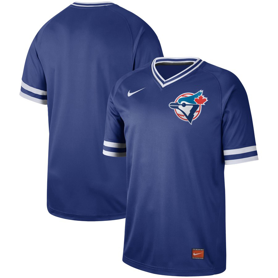 Men's Toronto Blue Jays Blank Royal Cooperstown Collection Legend Stitched MLB Jersey