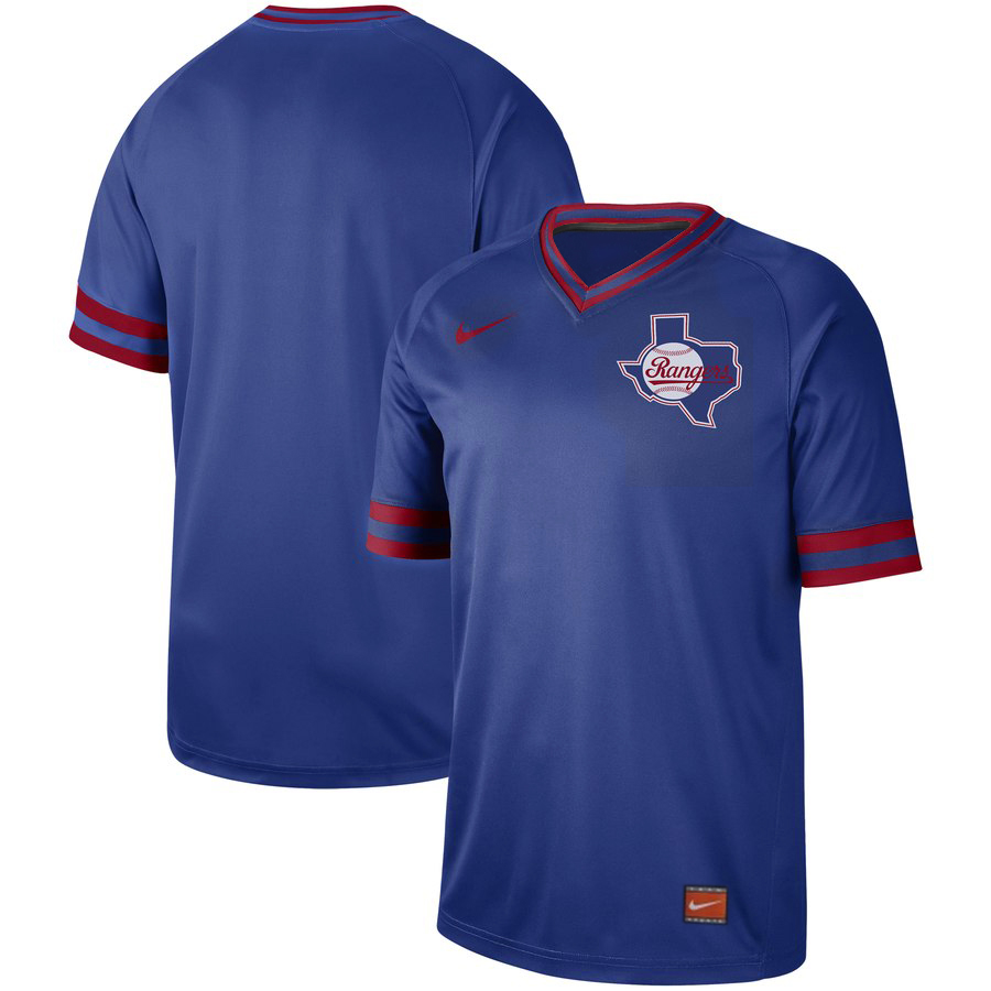 Men's Texas Rangers Blank Royal Cooperstown Collection Legend Stitched MLB Jersey