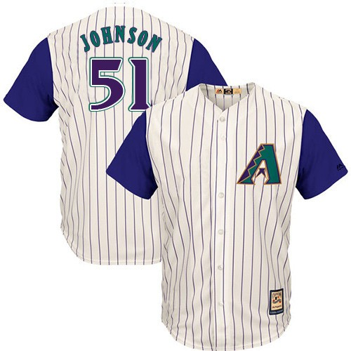 Diamondbacks #51 Randy Johnson White Hall Of Fame Cool Base Stitched MLB Jersey