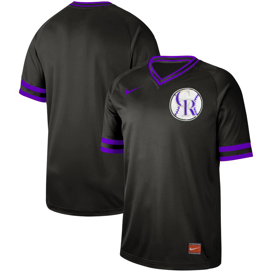 Men's Colorado Rockies Blank Black Cooperstown Collection Legend Stitched MLB Jersey