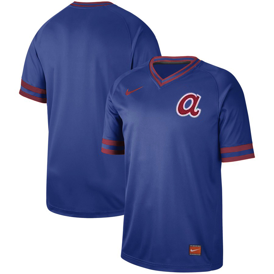 Men's Atlanta Braves Blank Blue Cooperstown Collection Legend Stitched MLB Jersey