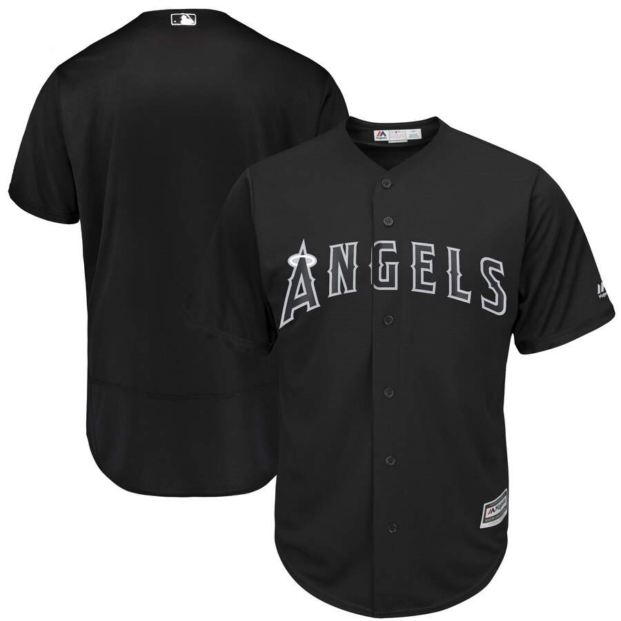 Men's Los Angeles Angels Majestic Black 2019 Players' Weekend Team Stitched MLB Jersey