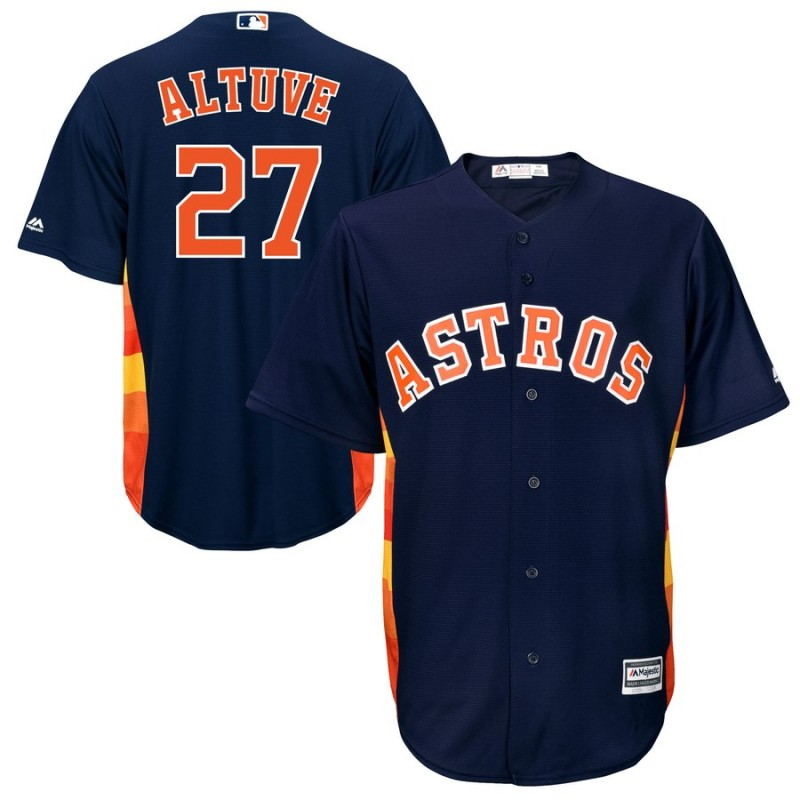 Men's Houston Astros #27 Jose Altuve Navy Cool Base Stitched MLB Jersey