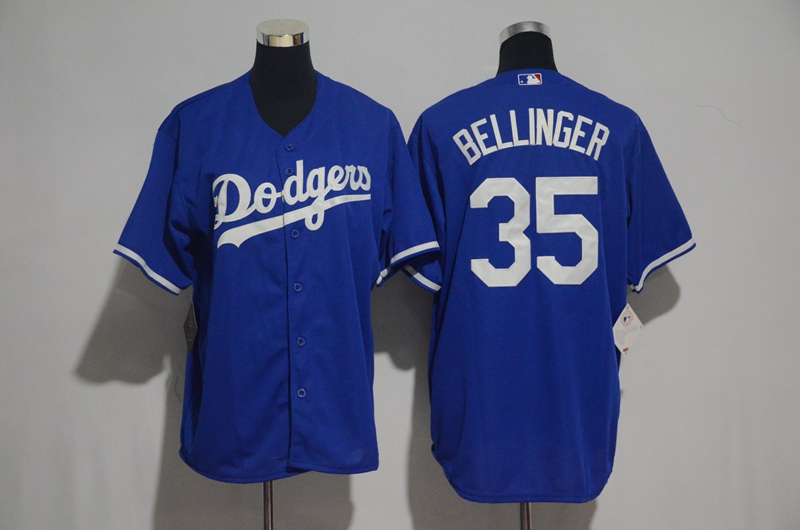 Men's Los Angeles Dodgers #35 Cody Bellinger Majestic Royal Cool Base Stitched MLB Jersey