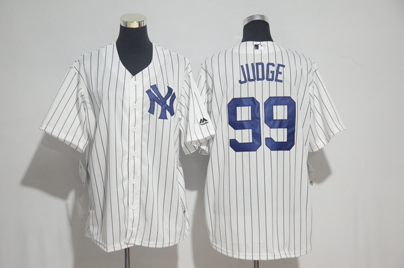Men's New York Yankees #99 Aaron Judge Majestic White Cool Base Stitched MLB Jersey
