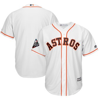 Men's Houston Astros Majestic White 2019 World Series Bound Cool Base Stitched MLB Jersey