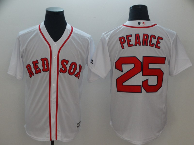 Men's Boston Red Sox #25 Steve Pearce Majestic White Cool Base Player Stitched MLB Jersey