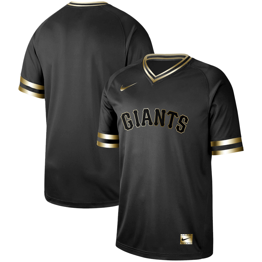Men's San Francisco Giants Black Gold Stitched MLB Jersey