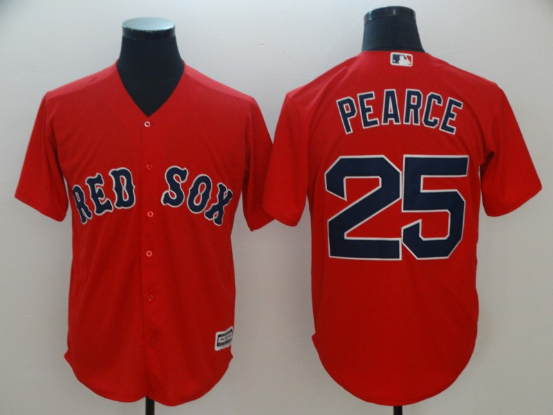 Men's Boston Red Sox #25 Steve Pearce Majestic Scarlet Cool Base Player Stitched MLB Jersey