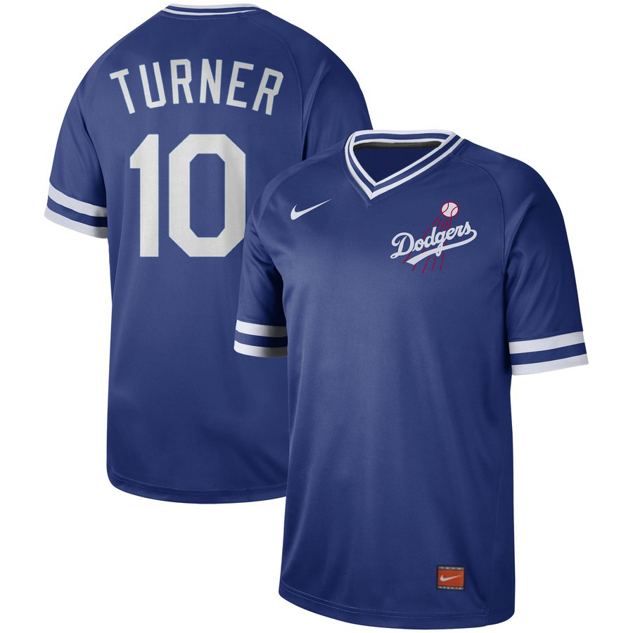 Men's Los Angeles Dodgers #10 Justin Turner Blue Cooperstown Collection Legend Stitched MLB Jersey