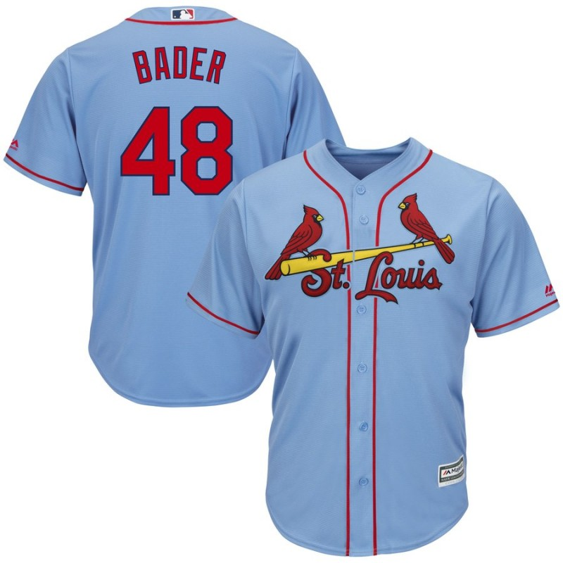 Men's St. Louis Cardinals #48 Harrison Bader Blue Cool Base Stitched MLB Jersey