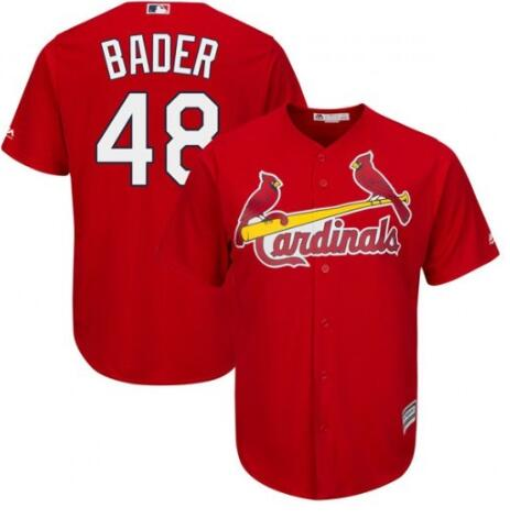 Men's St. Louis Cardinals #48 Harrison Bader Red Cool Base Stitched MLB Jersey
