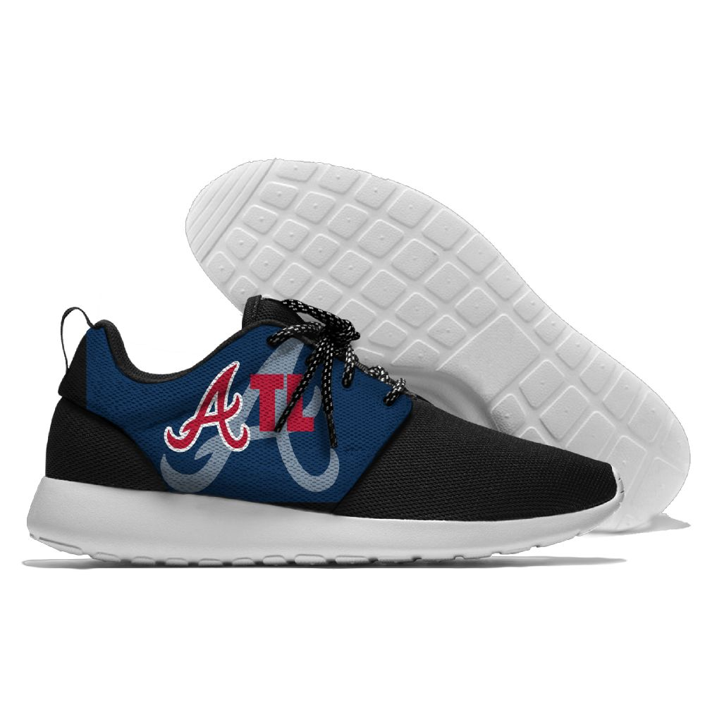 Women's Atlanta Braves Roshe Style Lightweight Running MLB Shoes 002