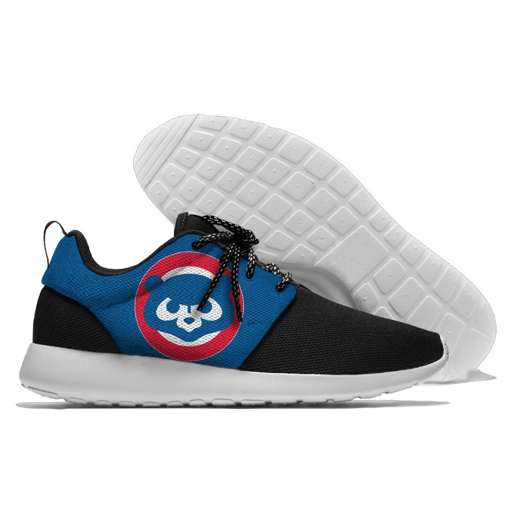 Women's Chicago Cubs Roshe Style Lightweight Running MLB Shoes 002