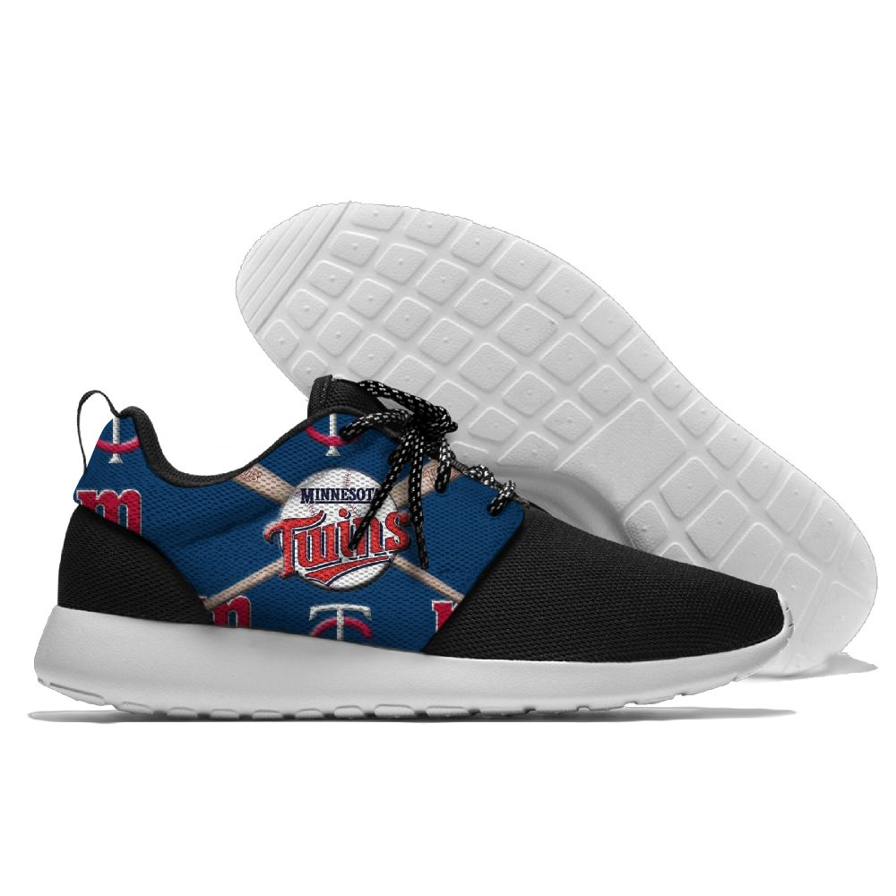 Women's Minnesota Twins Roshe Style Lightweight Running MLB Shoes 002