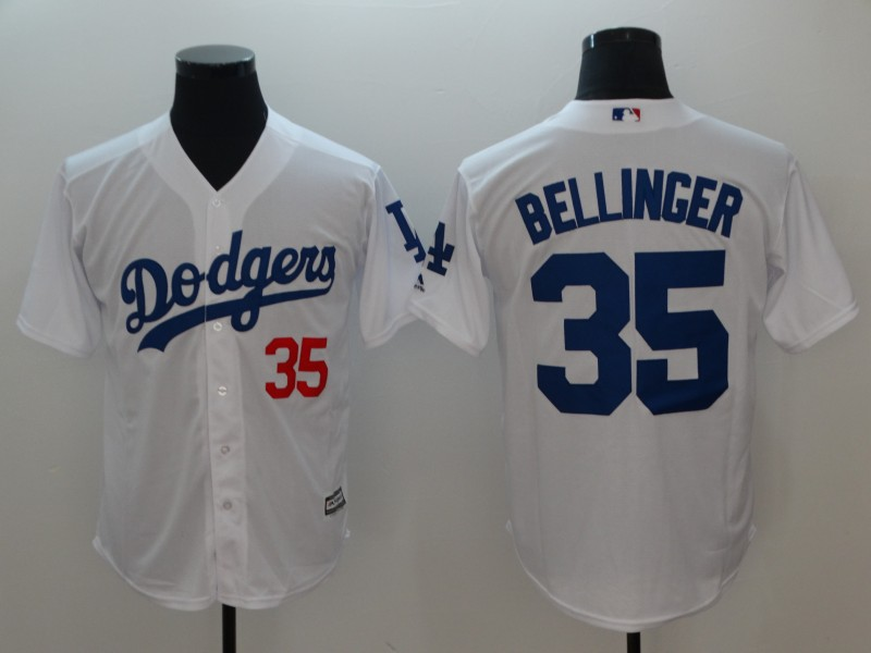 Men's Los Angeles Dodgers #35 Cody Bellinger White Cool Base Stitched MLB Jersey