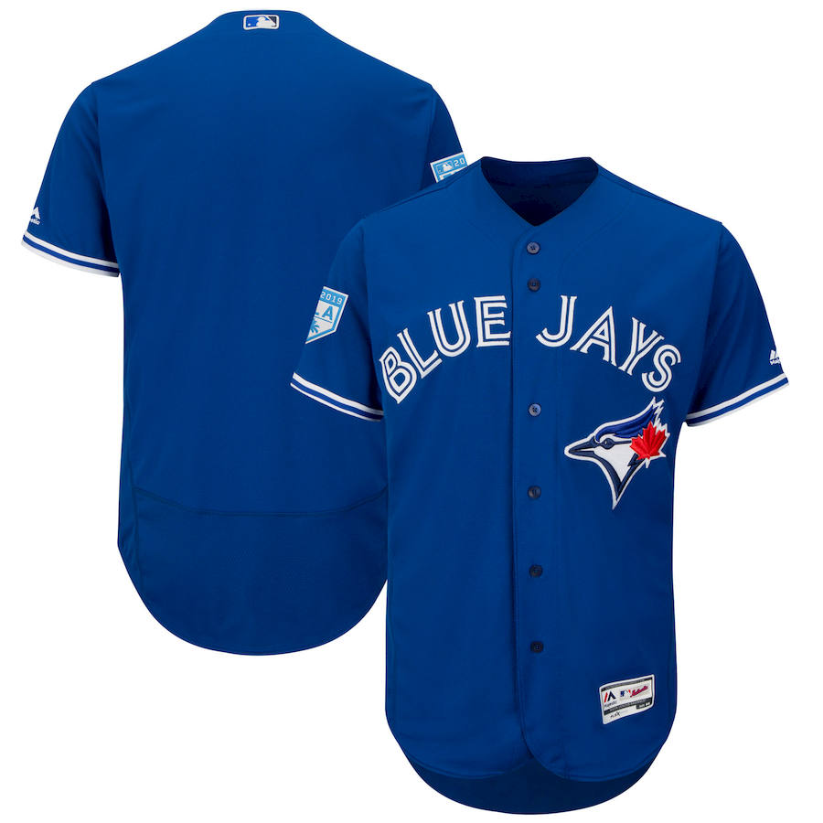 Men's Toronto Blue Jays Majestic Royal 2019 Spring Training Flex Base Stitched MLB Jersey