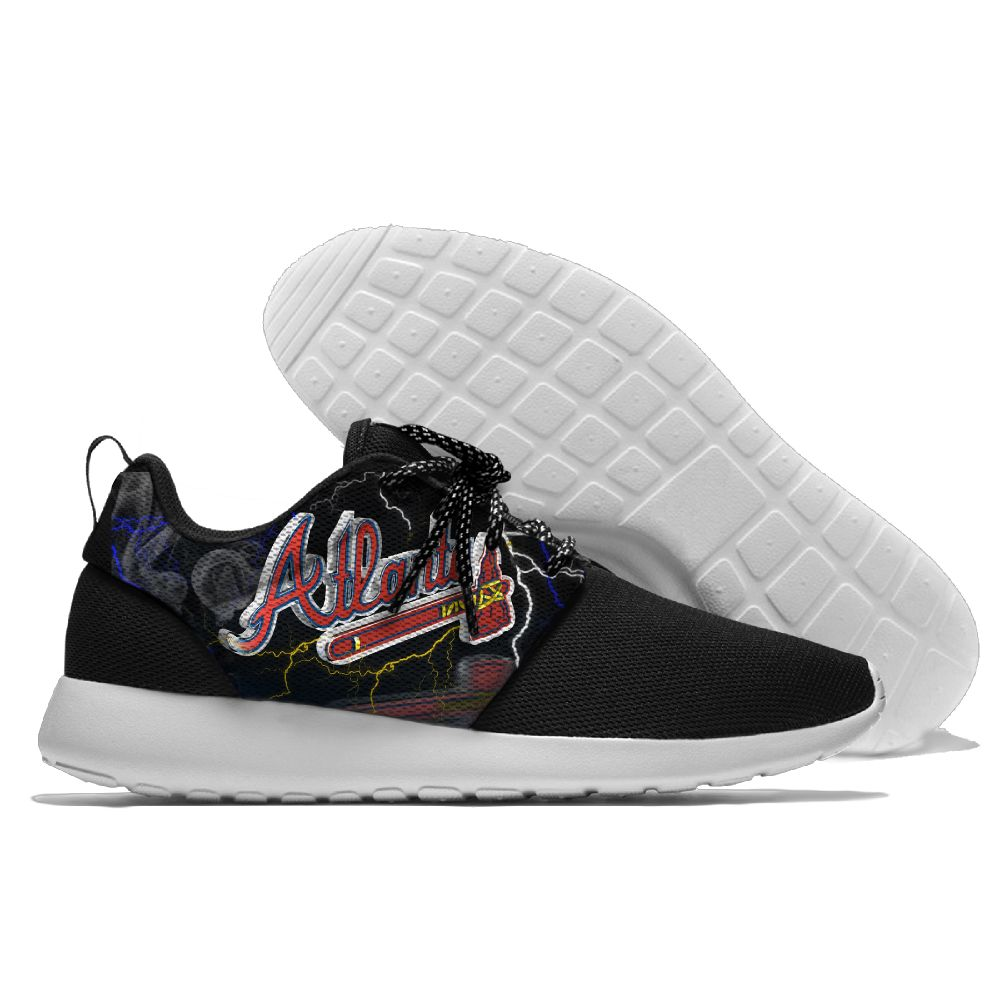 Women's Atlanta Braves Roshe Style Lightweight Running MLB Shoes 003