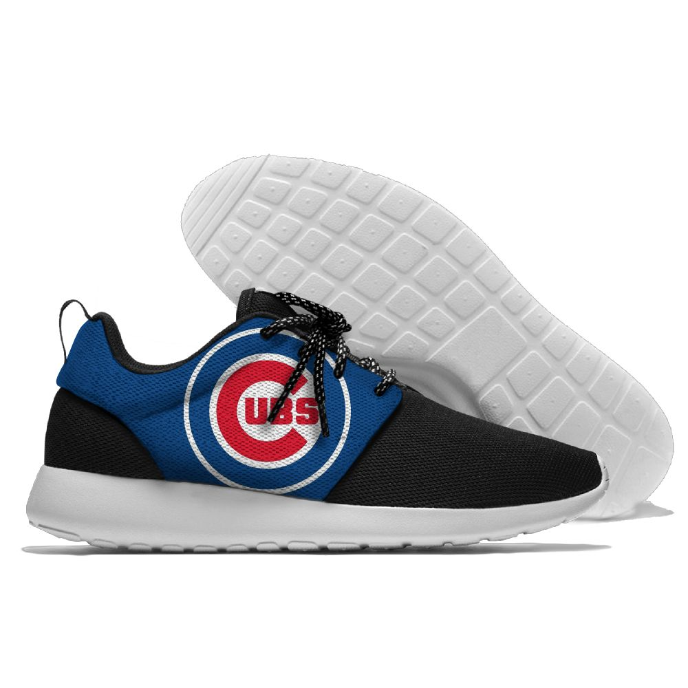 Women's Chicago Cubs Roshe Style Lightweight Running MLB Shoes 003