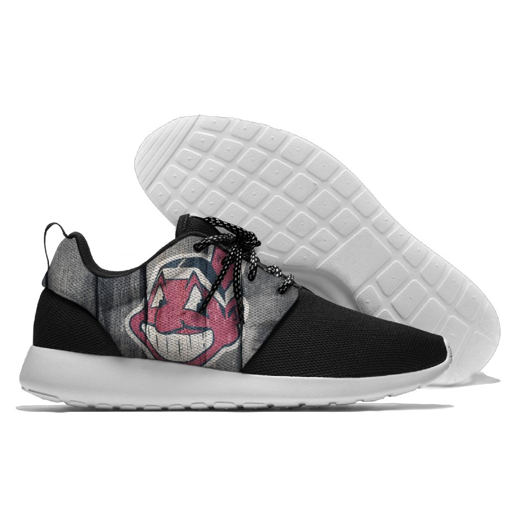 Women's Cleveland Indians Roshe Style Lightweight Running MLB Shoes 003