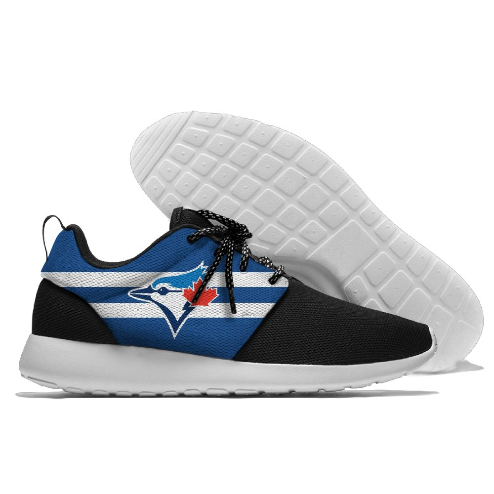 Women's Toronto Blue Jays Roshe Style Lightweight Running MLB Shoes 003