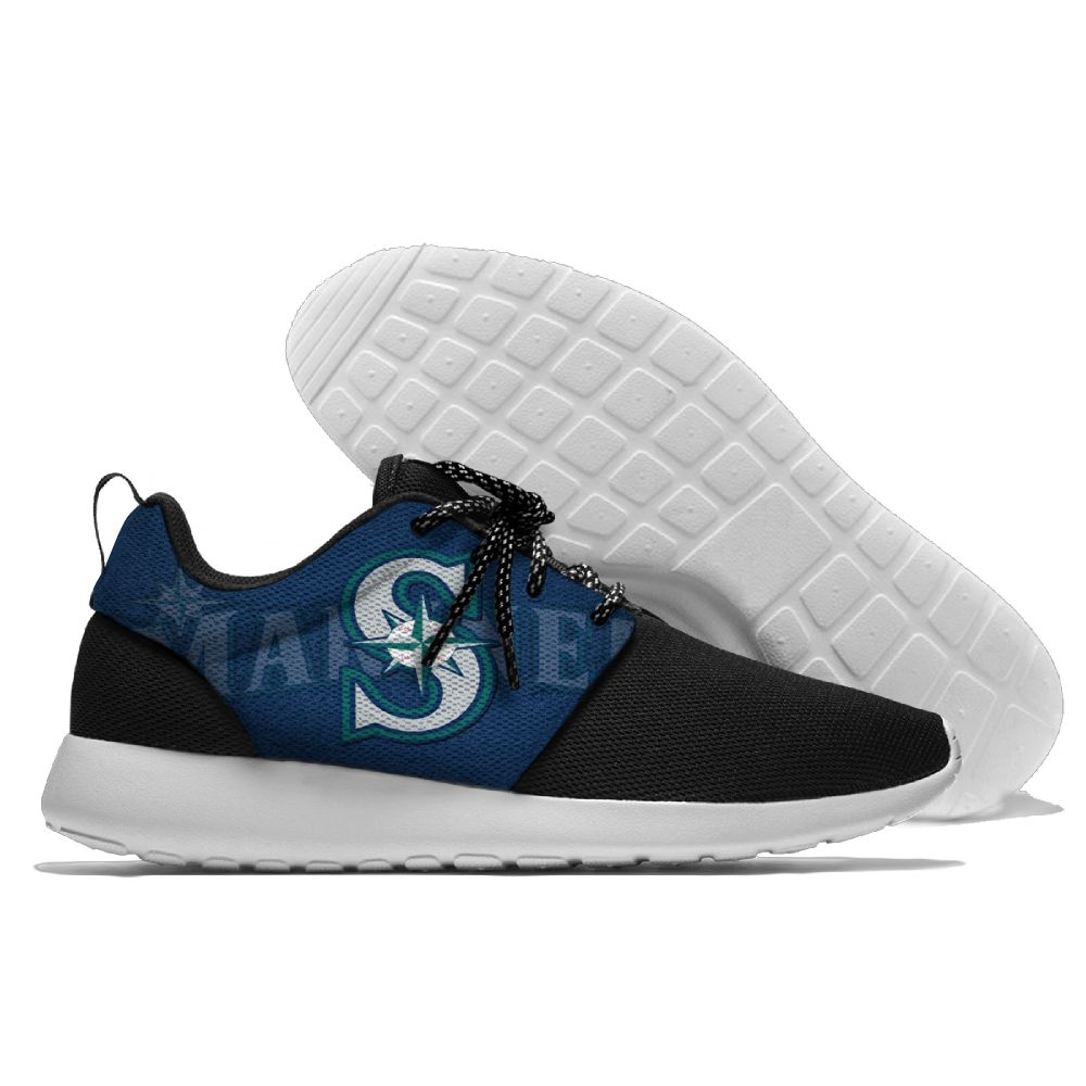 Women's Seattle Mariners Roshe Style Lightweight Running MLB Shoes 003