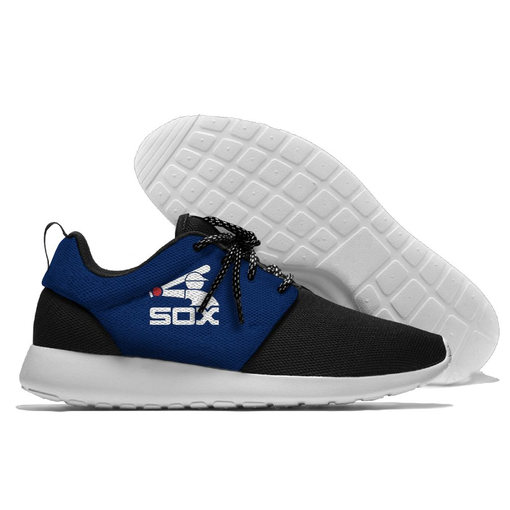 Women's Chicago White Sox Roshe Style Lightweight Running MLB Shoes 003