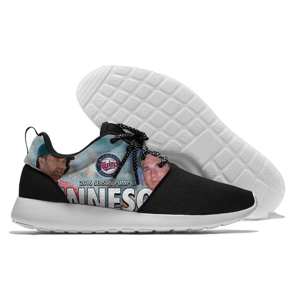Women's Minnesota Twins Roshe Style Lightweight Running MLB Shoes 003