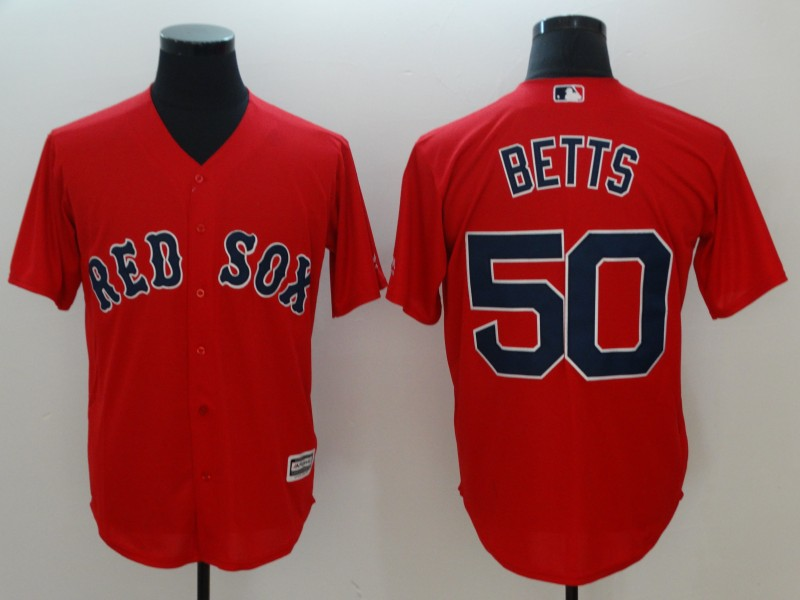 Men's Boston Red Sox #50 Mookie Betts Red Cool Base Stitched MLB Jersey