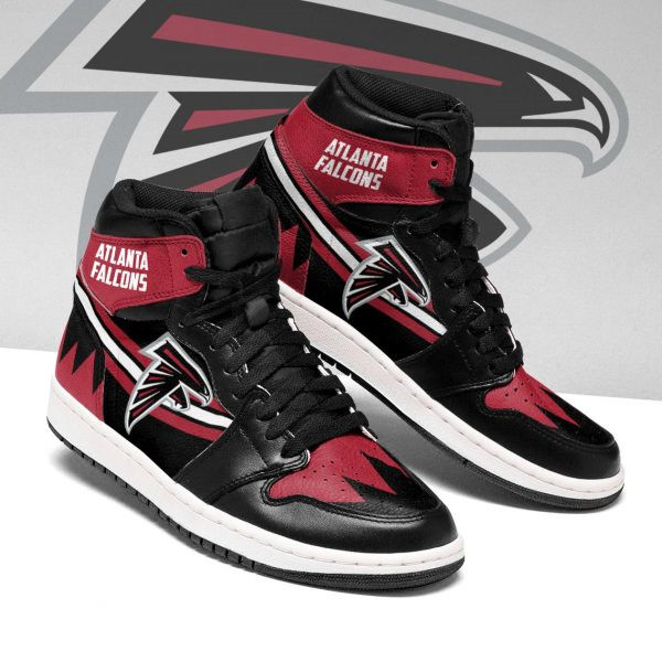 Women's Atlanta Falcons AJ High Top Leather Sneakers 004