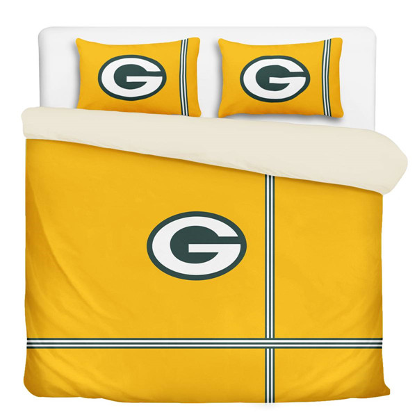 Green Bay Packers 3-Pieces Full Bedding 002