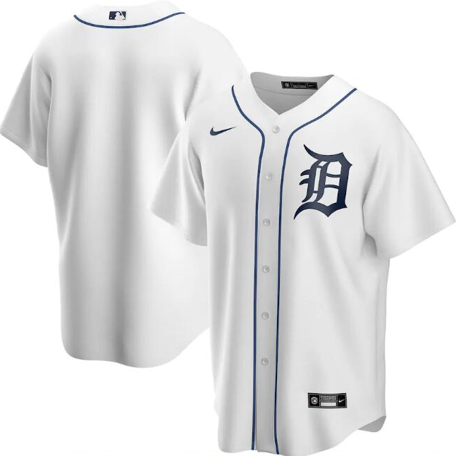 Men's Detroit Tigers White Cool Base Stitched MLB Jersey