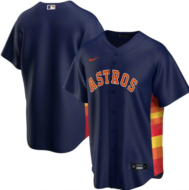 Men's Houston Astros Navy Cool Base Stitched MLB Jersey