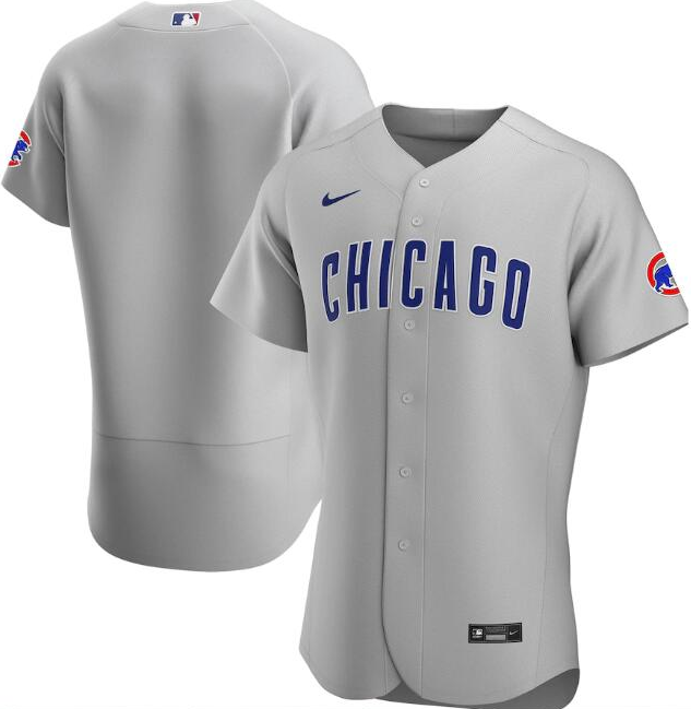 Men's Chicago Cubs Grey Flex Base Stitched MLB Jersey