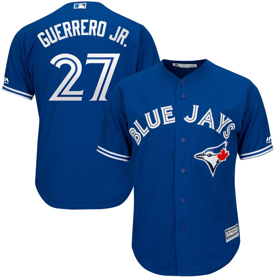 Men's Toronto Blue Jays #27 Vladimir Guerrero Jr. Royal Majestic Cool Base Stitched MLB Jersey