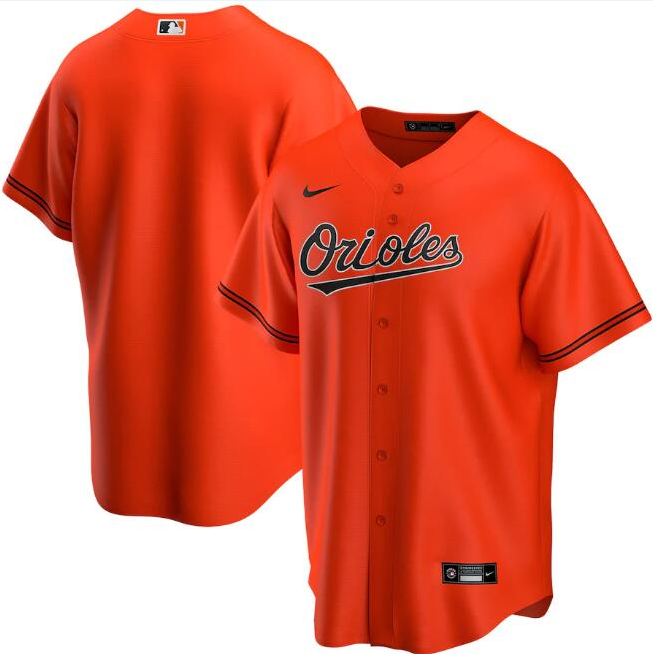Men's Baltimore Orioles Orange Cool Base Stitched MLB Jersey