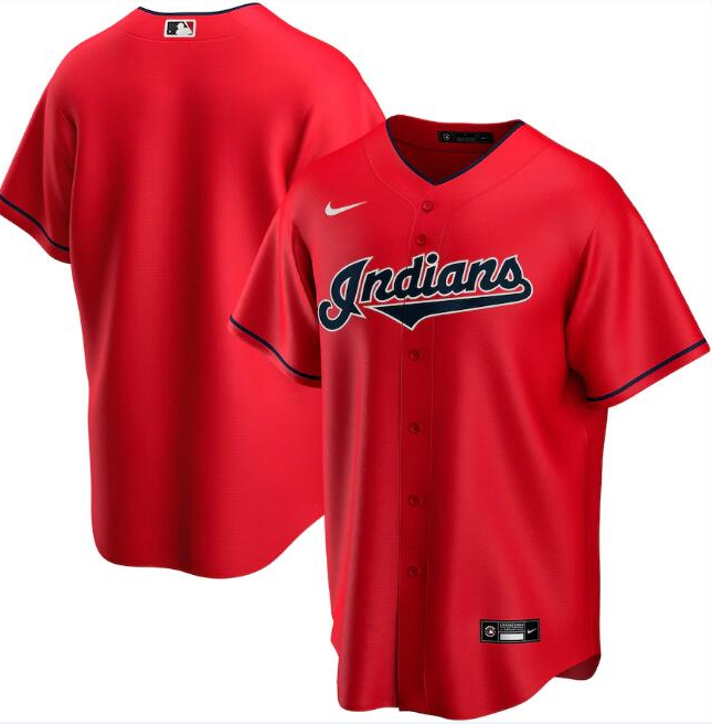 Men's Cleveland Indians Red Cool Base Stitched MLB Jersey