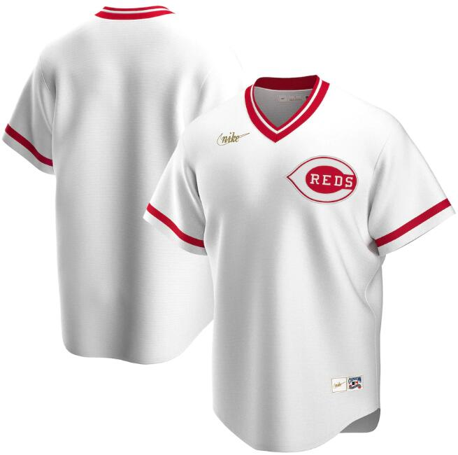 Men's Cincinnati Reds White Cool Base Stitched MLB Jersey
