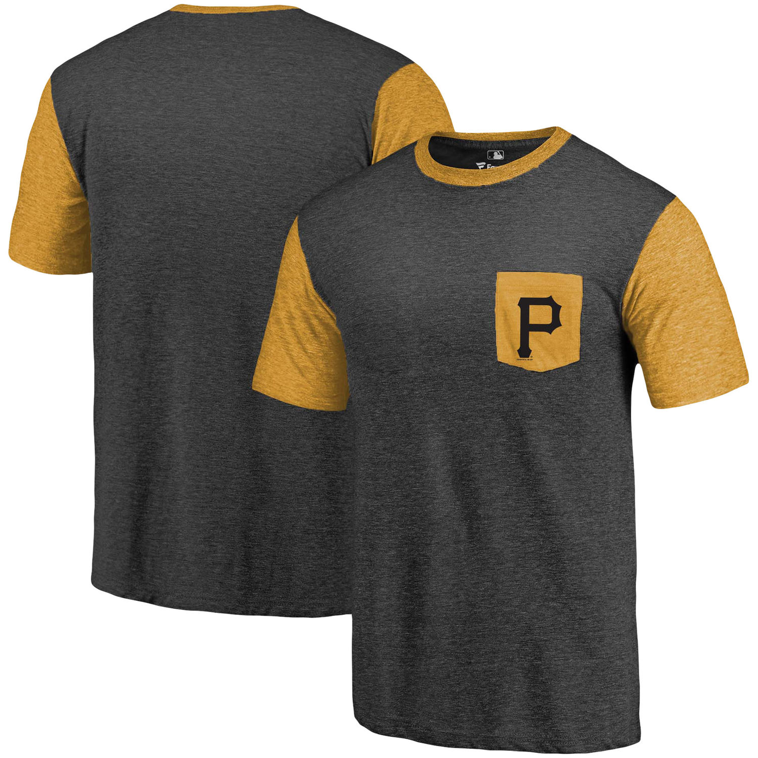 Men's Pittsburgh Pirates Fanatics Branded Black-Gold Refresh Pocket T-Shirt