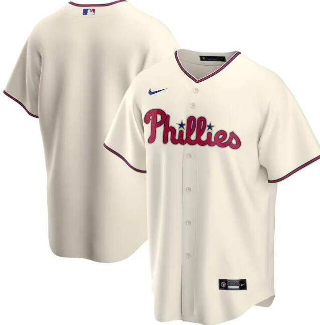 Men's Philadelphia Phillies Cream Cool Base Stitched MLB Jersey