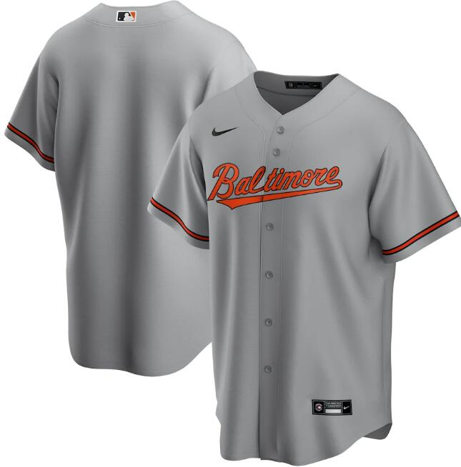Men's Baltimore Orioles Grey Cool Base Stitched MLB Jersey