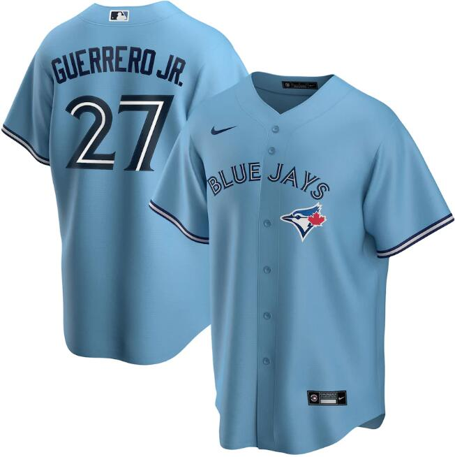 Men's Toronto Blue Jays Blue #27 Vladimir Guerrero Jr. Majestic Cool Base Stitched MLB Jersey