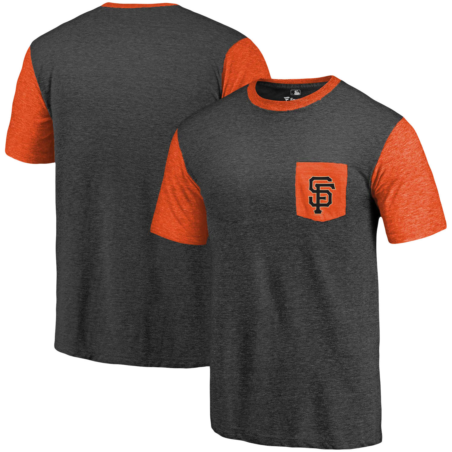 Men's San Francisco Giants Fanatics Branded Black-Orange Refresh Pocket T-Shirt