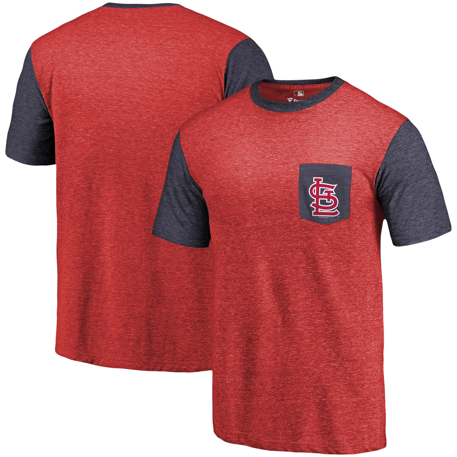 Men's St. Louis Cardinals Fanatics Branded Red-Navy Refresh Pocket T-Shirt