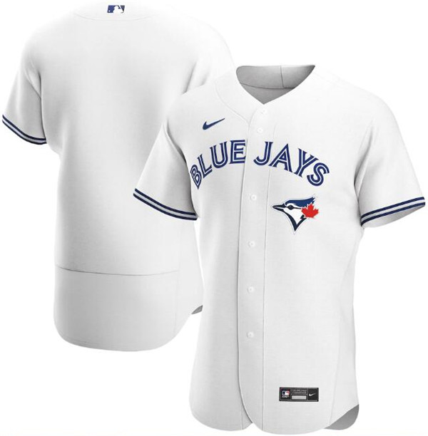 Men's Toronto Blue Jays White Blank Flex Base Stitched MLB Jersey