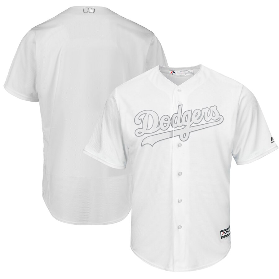 Men's Los Angeles Dodgers Majestic White 2019 Players' Weekend Team Stitched MLB Jersey